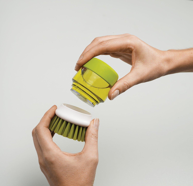Щетка с дозатором моющего средства Joseph Joseph palm scrub, 8,8х13,5х9,5 см, зеленый Joseph Joseph 85004 фото 6