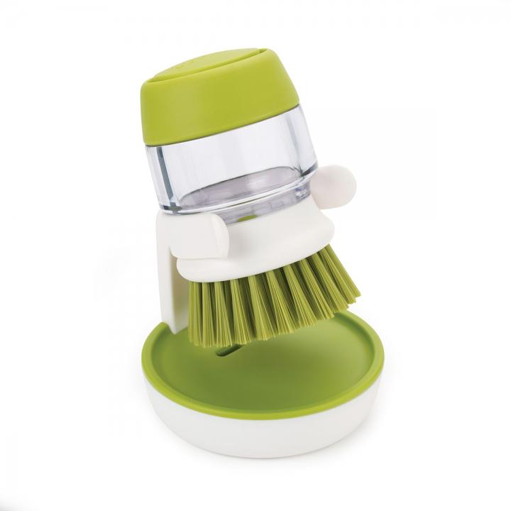 Онлайн каталог PROMENU: Щетка с дозатором моющего средства Joseph Joseph palm scrub, 8,8х13,5х9,5 см, зеленый Joseph Joseph 85004