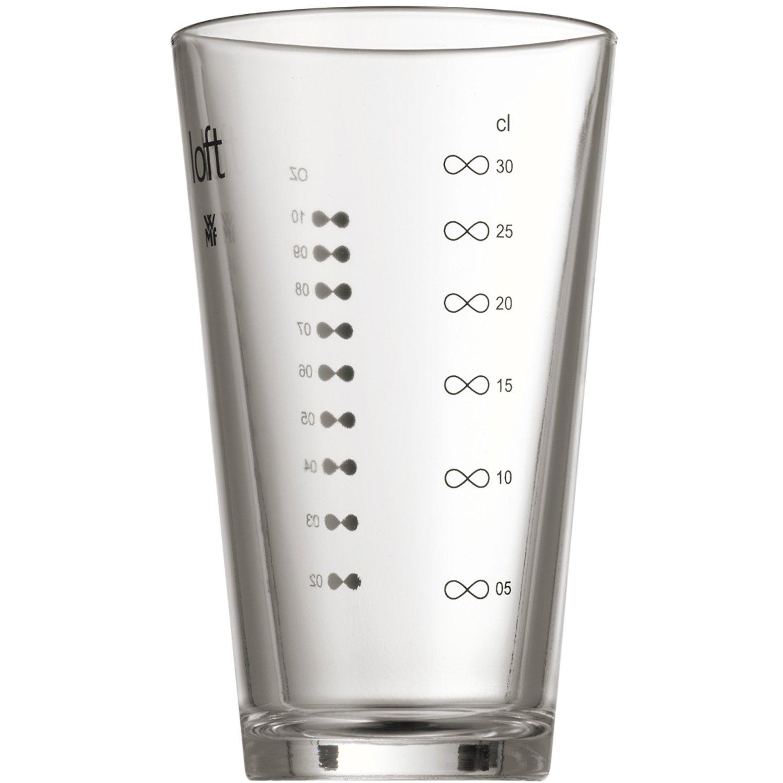 Шейкер для коктейлей WMF Loft Bar, высота 28 см, объем 0,6 л, прозрачный с серебристым WMF 06 1355 6030 фото 1