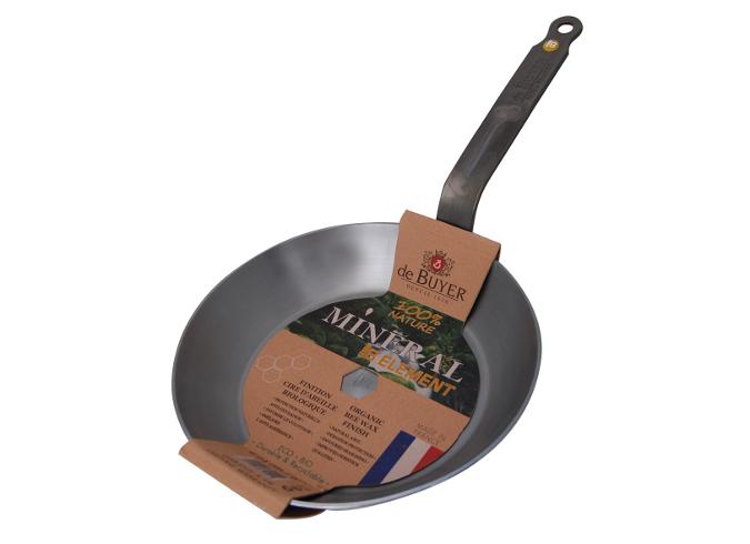 Онлайн каталог PROMENU: Сковорода круглая de Buyer MINERAL B ELEMENT, диаметр 28 см, серебристый De Buyer 5610.28