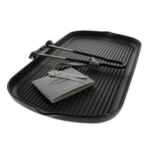 Онлайн каталог PROMENU: Сковорода-гриль чугунная со съемной ручкой Chasseur, 22х37 см                               32702