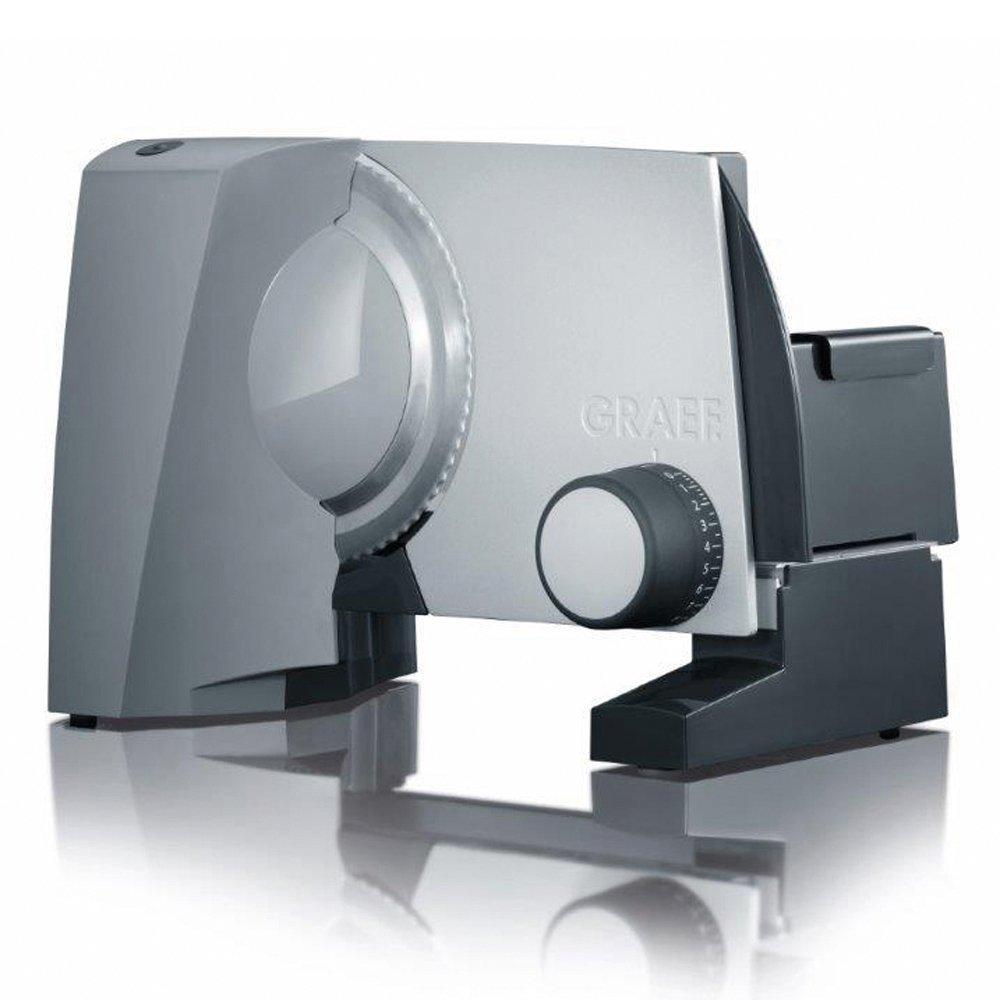 Онлайн каталог PROMENU: Слайсер универсальный электрический Graef E 10, 170 Вт, темно-серебристый                               E 10