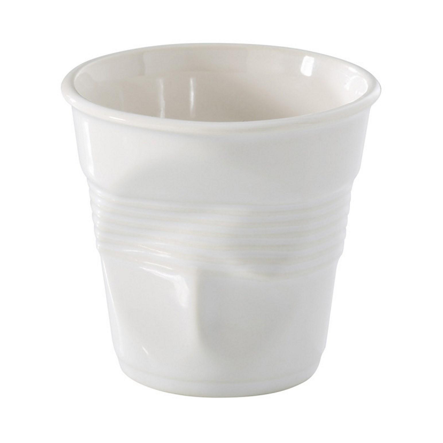Онлайн каталог PROMENU: Стакан фарфоровый для кофе Revol FROISSES, объем 0,12 л, диаметр 7,3 см, высота 7 см, белый                               639349