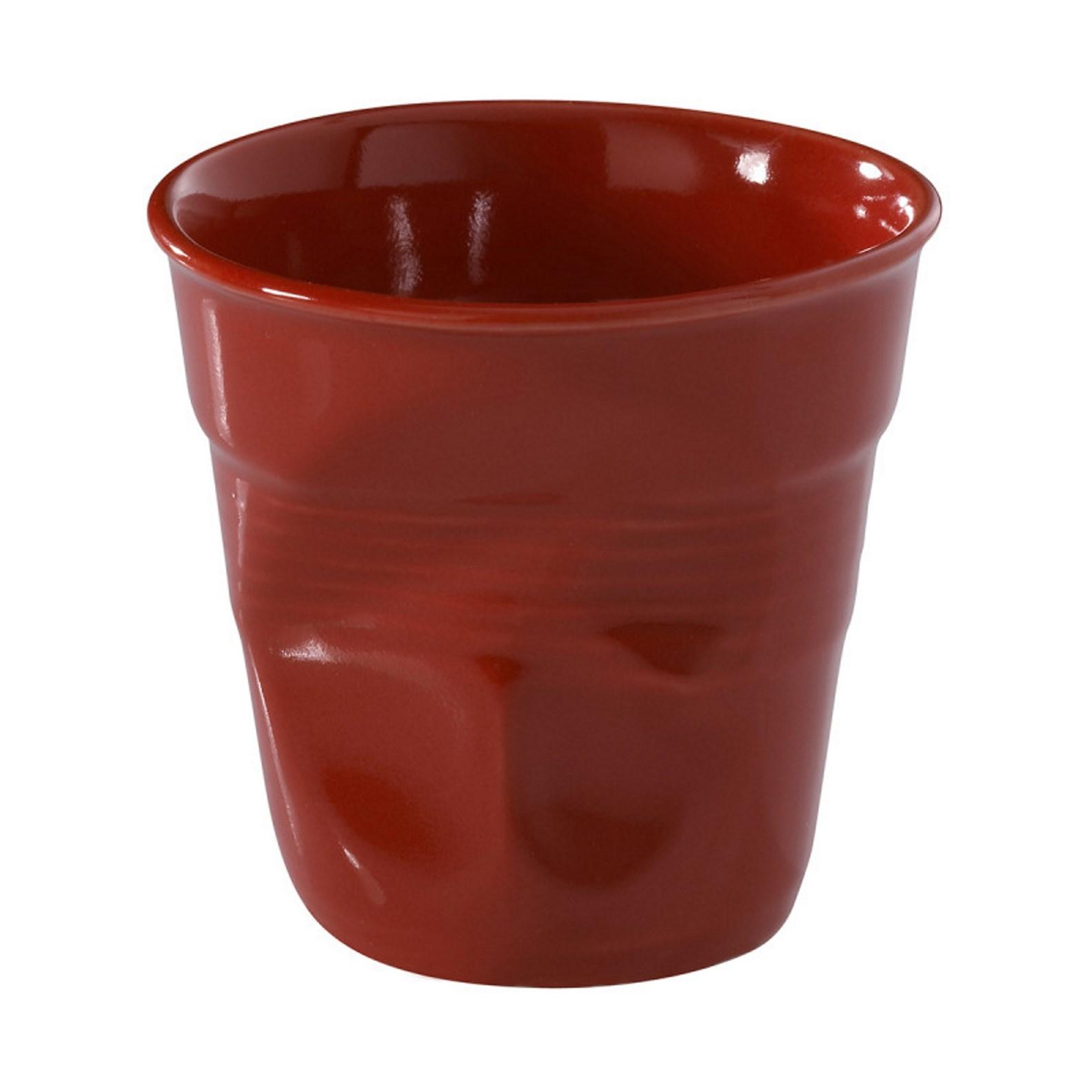 Онлайн каталог PROMENU: Стакан фарфоровый для кофе Revol FROISSES, объем 0,08 л, диаметр 6,5, высота 6 см, красный                               619088