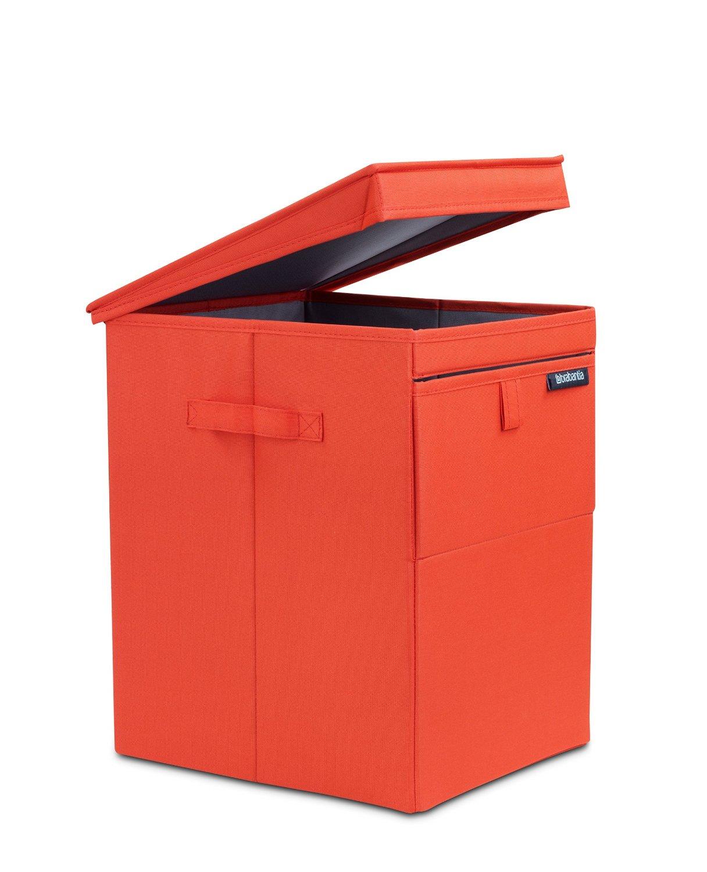 Онлайн каталог PROMENU: Сумка-короб для белья с крышкой модульная Brabantia, 44,5х32х37, красная Brabantia 109362