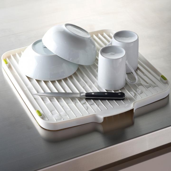 Сушилка для посуды двухсторонняя со сливом Joseph Joseph flip, 3x39,5x37,5 см, белый Joseph Joseph 85013 фото 2