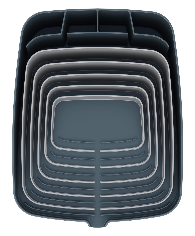 Онлайн каталог PROMENU: Сушилка для посуды и столовых со сливом Joseph Joseph ARENA, 35x44x11 см, серый Joseph Joseph 85003