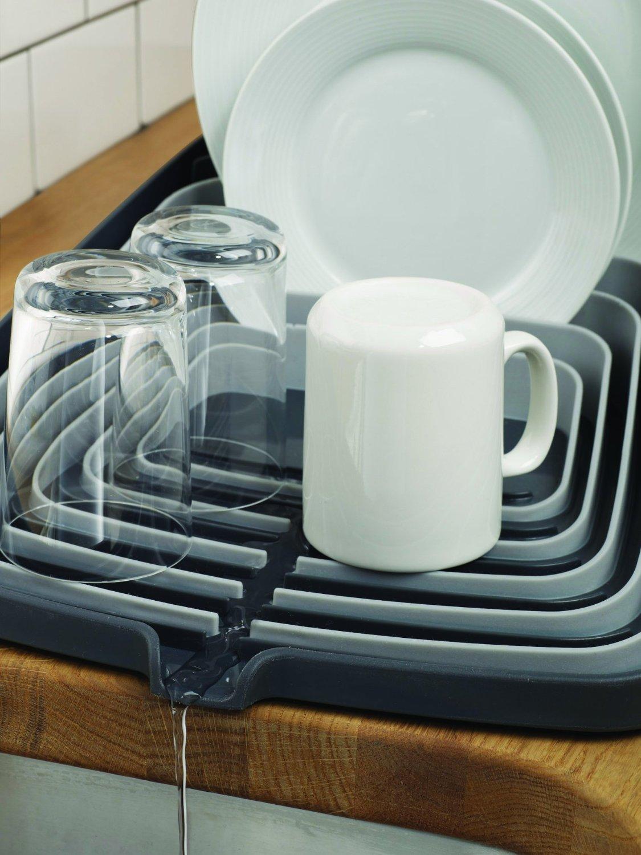 Сушилка для посуды и столовых со сливом Joseph Joseph ARENA, 35x44x11 см, серый Joseph Joseph 85003 фото 3
