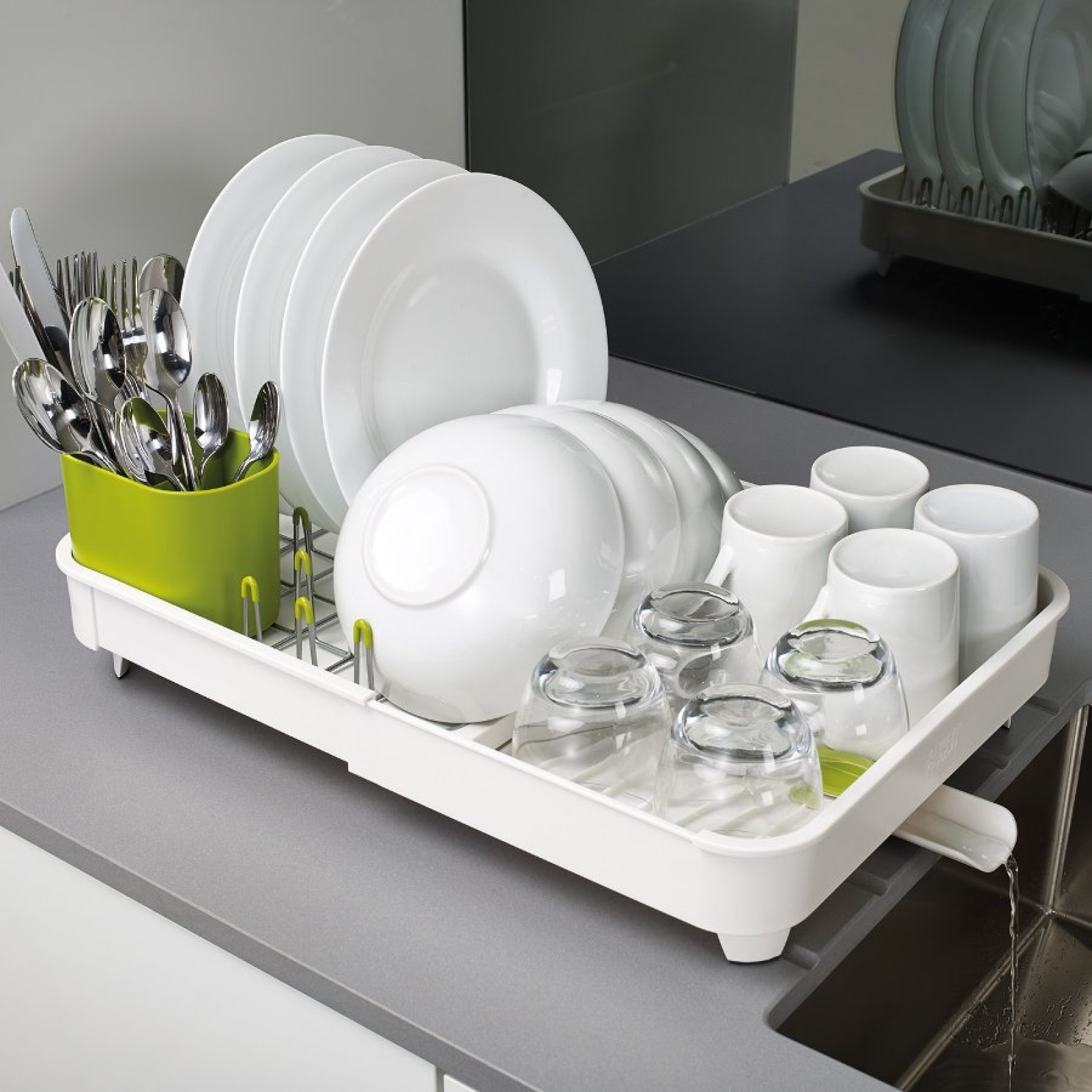 Сушилка для посуды раздвижная Joseph Joseph extend, 32х16х36 см, белый Joseph Joseph 85071 фото 3