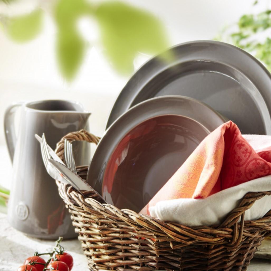 Тарелка десертная/закусочная Emile Henry Tableware, диаметр 21 см, черный Emile Henry 798870 фото 5