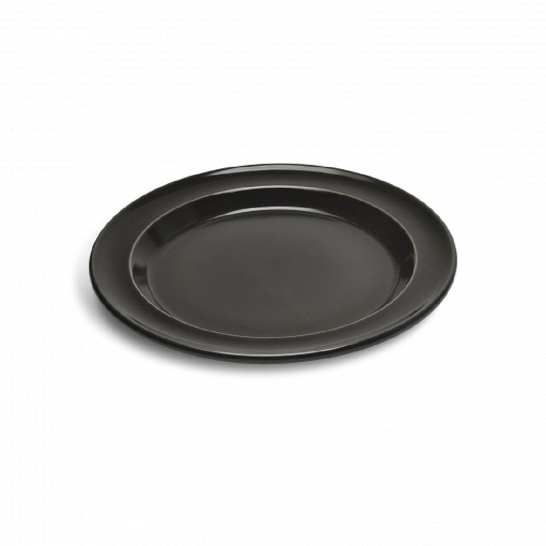 Тарелка десертная/закусочная Emile Henry Tableware, диаметр 21 см, черный Emile Henry 798870 фото 0