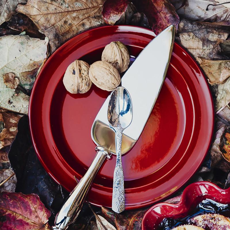Тарелка десертная/закусочная Emile Henry Tableware, диаметр 21 см, blue flame Emile Henry 978870 фото 1