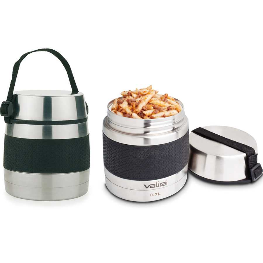 Онлайн каталог PROMENU: Термос для еды  Valira FOOD FLASK INOXTERM, объем 1 л, серебристый Valira 6615/