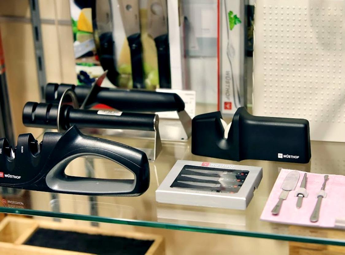 Точилка для ножей двухуровневая Wuesthof Sharpening, черная Wuesthof 4343 фото 1