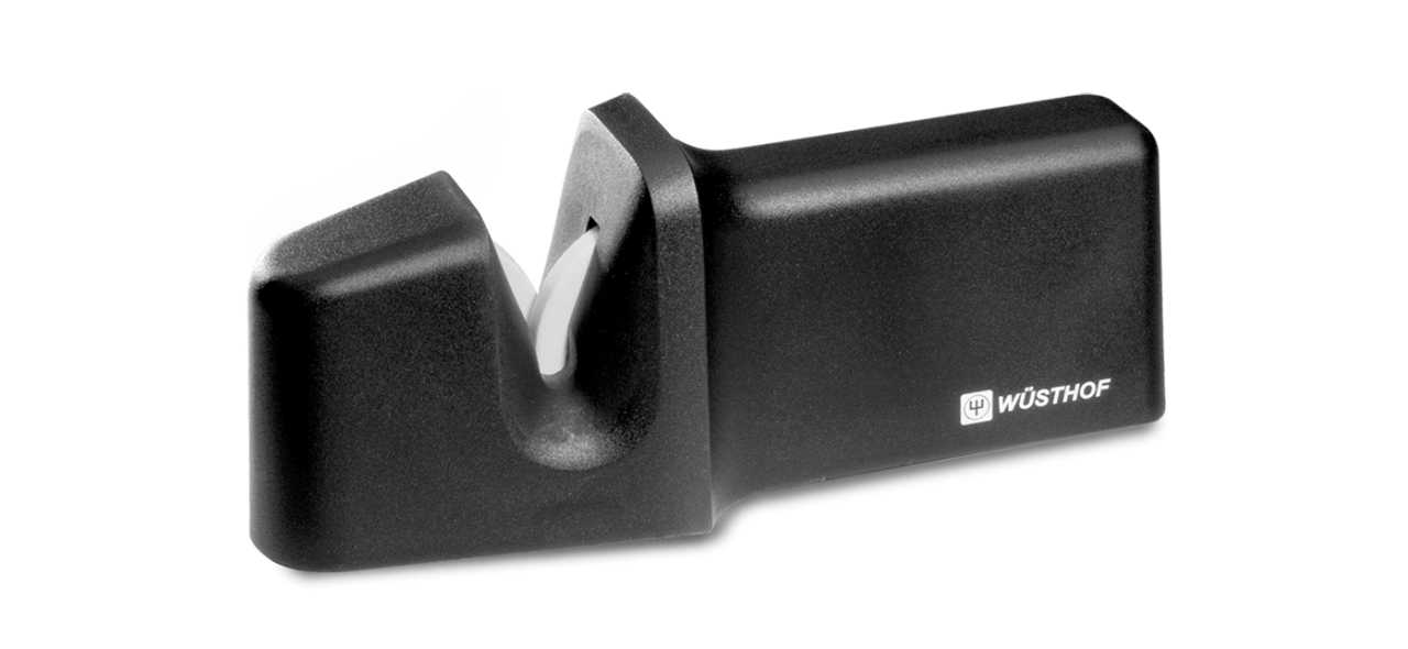 Онлайн каталог PROMENU: Точилка для ножей двухуровневая Wuesthof Sharpening, черная Wuesthof 4343