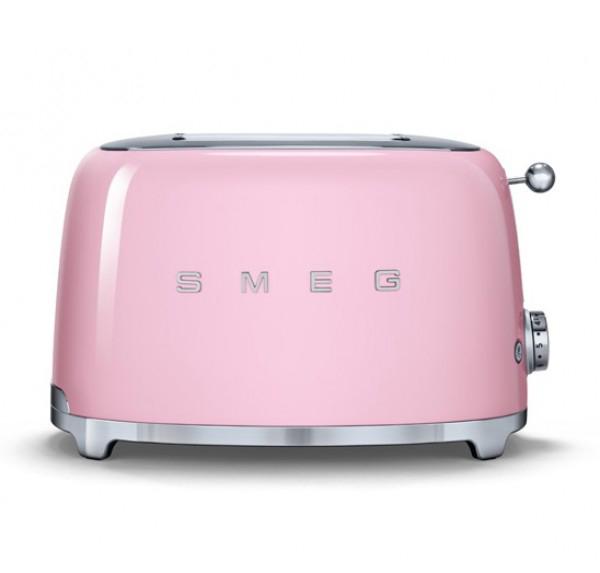 Онлайн каталог PROMENU: Тостер на два слота Smeg, 31х19,5х19,8 см, розовый Smeg TSF01PKEU