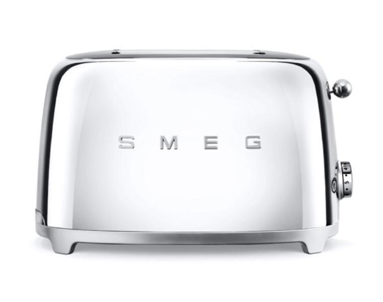Онлайн каталог PROMENU: Тостер на два слота Smeg, 31х19,5х19,8 см, серый Smeg TSF01SSEU