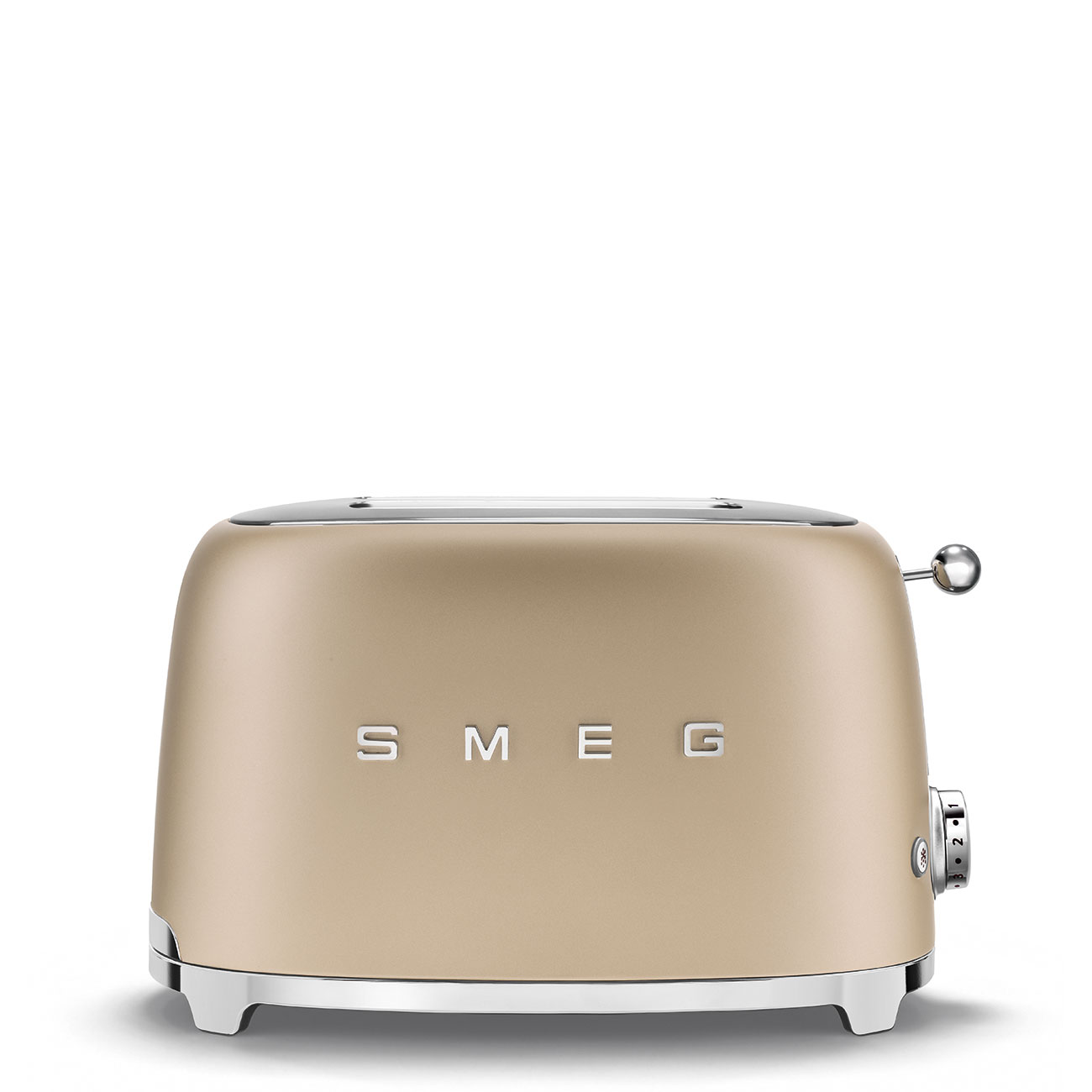 Онлайн каталог PROMENU: Тостер на 2 слота Smeg 50 Style, 19,8 х 31 х 19,5 см, шампань Smeg TSF01CHMEU