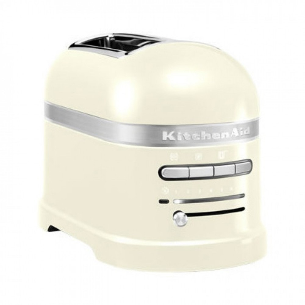 Онлайн каталог PROMENU: Тостер на два слота KitchenAid Artisan, кремовый                                                  KitchenAid 5KMT2204EAC