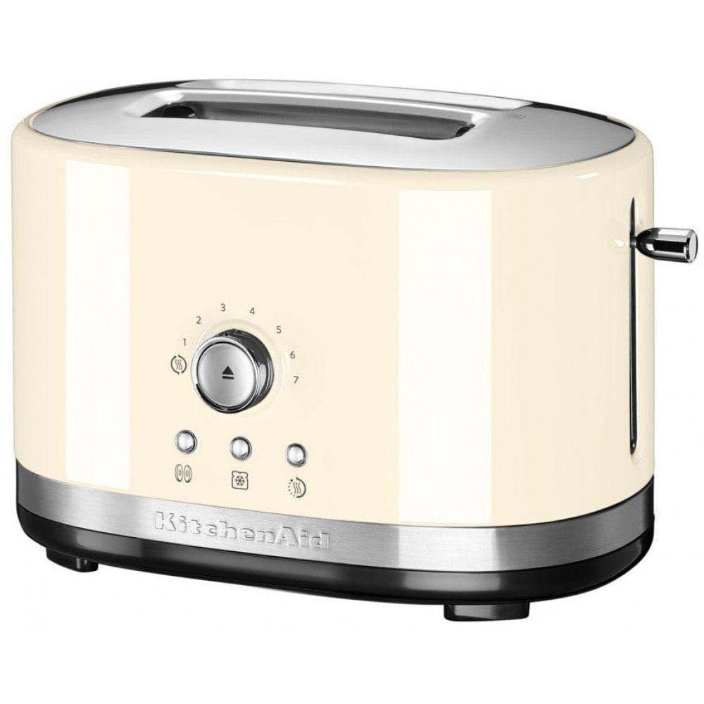 Онлайн каталог PROMENU: Тостер на два слота KitchenAid Artisan с ручным управлением, кремовый KitchenAid 5KMT2116EAC