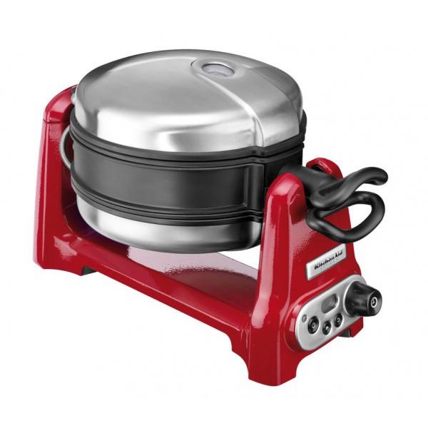 Вафельница с керамическим антипригарным покрытием KitchenAid Artisan, красный KitchenAid 5KWB100EER фото 0
