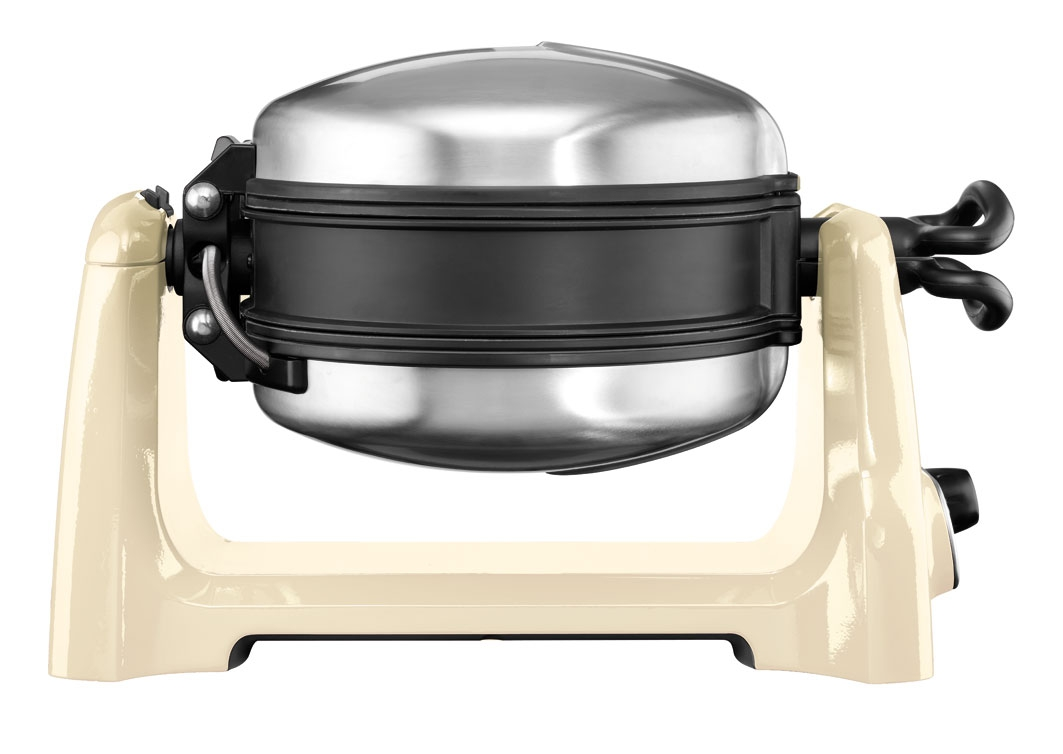Онлайн каталог PROMENU: Вафельница с керамическим антипригарным покрытием KitchenAid Artisan, кремовый KitchenAid 5KWB110EAC