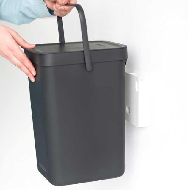 Ведро для мусора Sort&Go Brabantia, объем 12 л, серый Brabantia 109805 фото 4