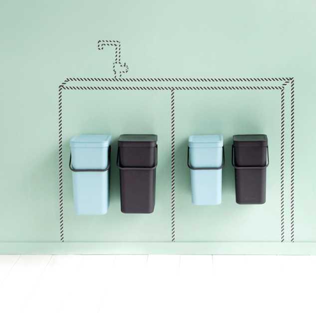 Ведро для мусора Sort&Go Brabantia, объем 12 л, серый Brabantia 109805 фото 1