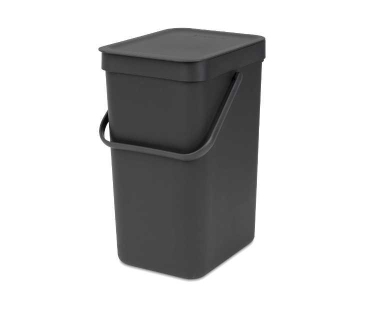 Онлайн каталог PROMENU: Ведро для мусора Sort&Go Brabantia, объем 12 л, серый Brabantia 109805