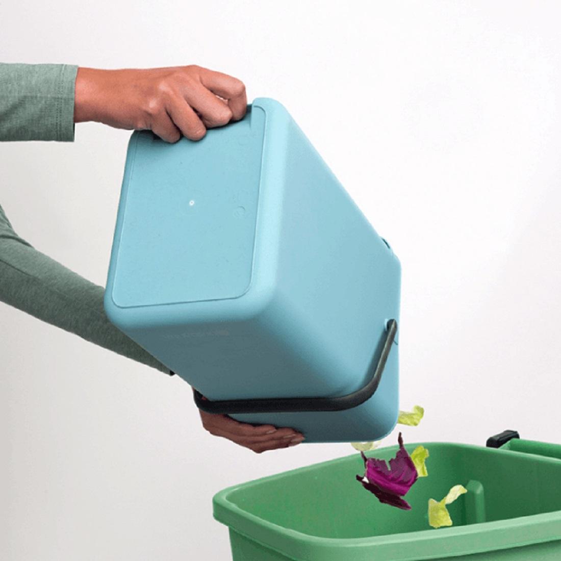 Ведро для мусора Sort&Go Brabantia, объем 12 л, мятный Brabantia 109744 фото 4
