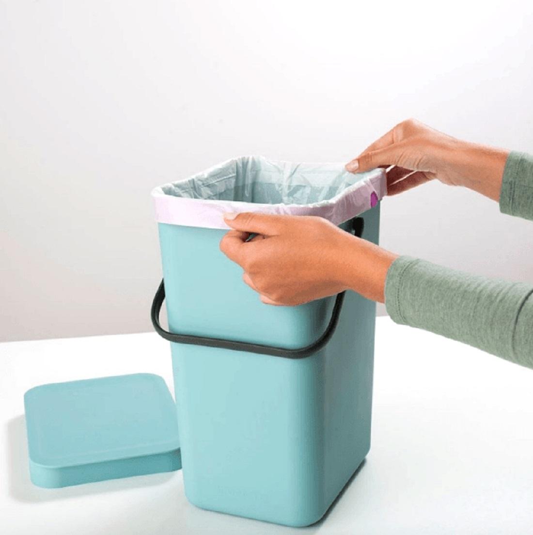 Ведро для мусора Sort&Go Brabantia, объем 12 л, мятный Brabantia 109744 фото 5