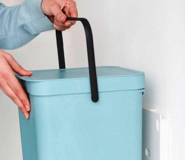 Ведро для мусора Sort&Go Brabantia, объем 16 л, мятный Brabantia 109843 фото 3