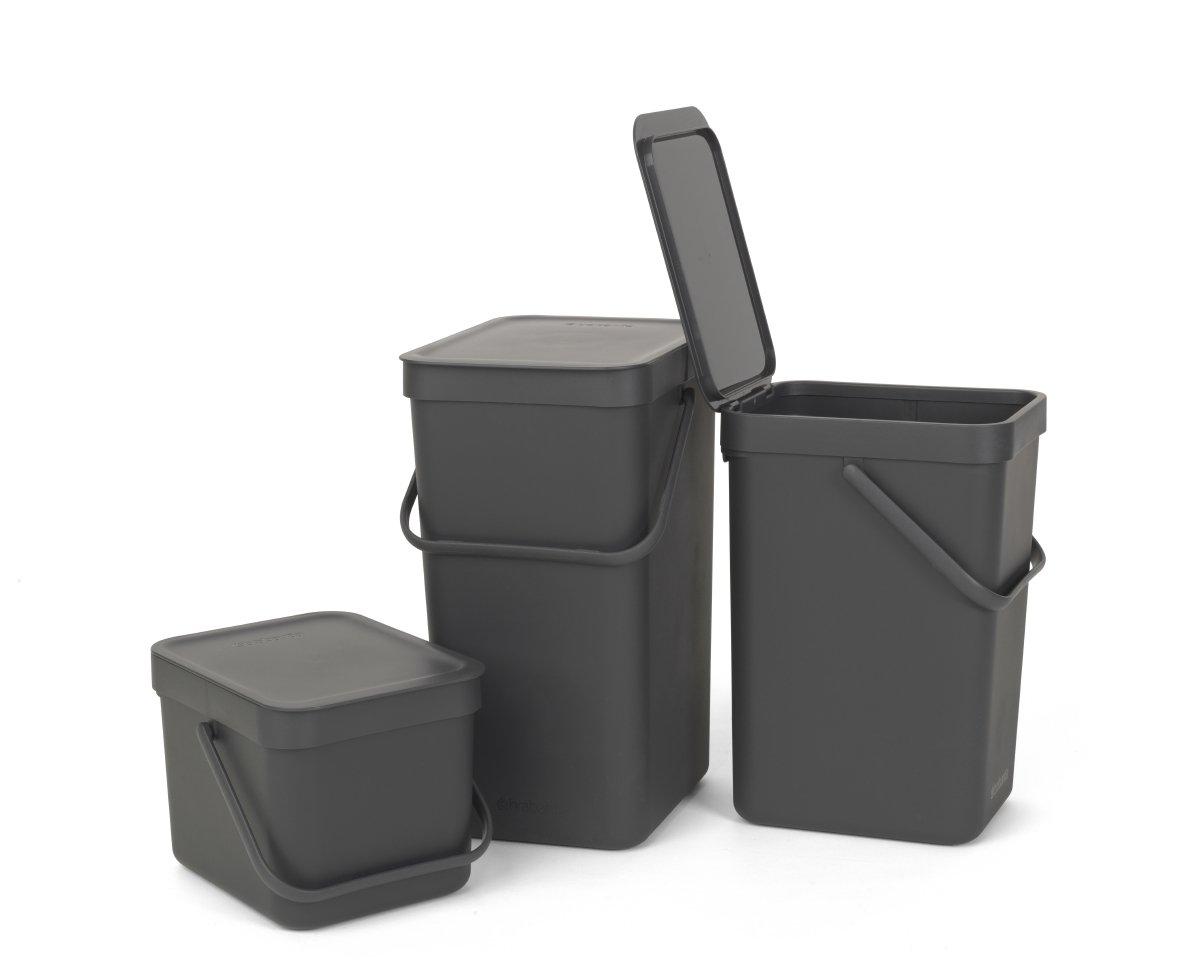 Ведро для мусора Sort&Go Brabantia, объем 6 л, серый Brabantia 109720 фото 4