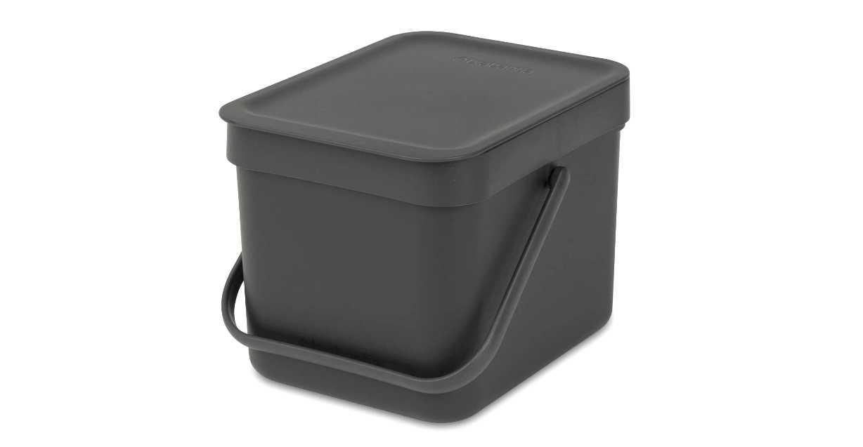 Онлайн каталог PROMENU: Ведро для мусора Sort&Go Brabantia, объем 6 л, серый Brabantia 109720