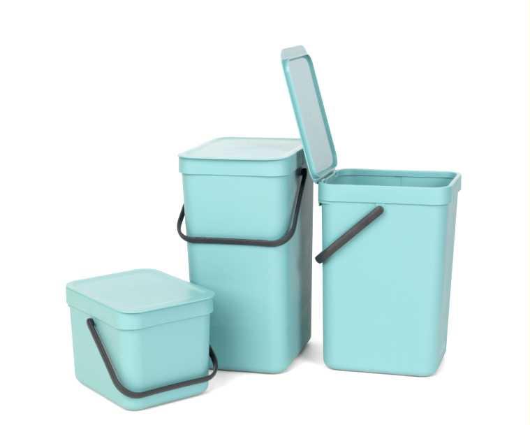 Ведро для мусора Sort&Go Brabantia, объем 6 л, мятный Brabantia 109645 фото 10