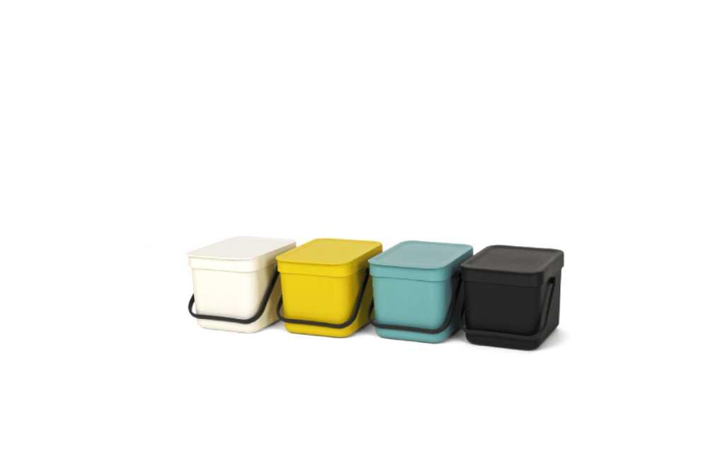 Ведро для мусора Sort&Go Brabantia, объем 6 л, желтый Brabantia 109683 фото 2