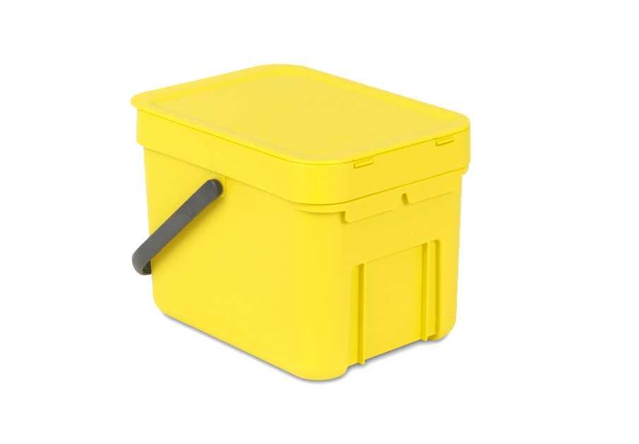 Онлайн каталог PROMENU: Ведро для мусора Sort&Go Brabantia, объем 6 л, желтый Brabantia 109683