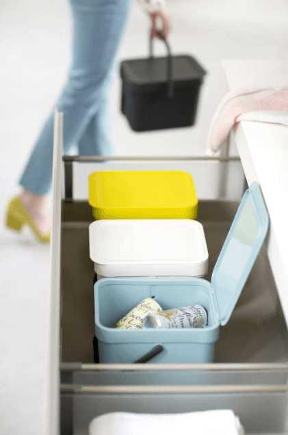 Ведро для мусора Sort&Go Brabantia, объем 6 л, желтый Brabantia 109683 фото 7