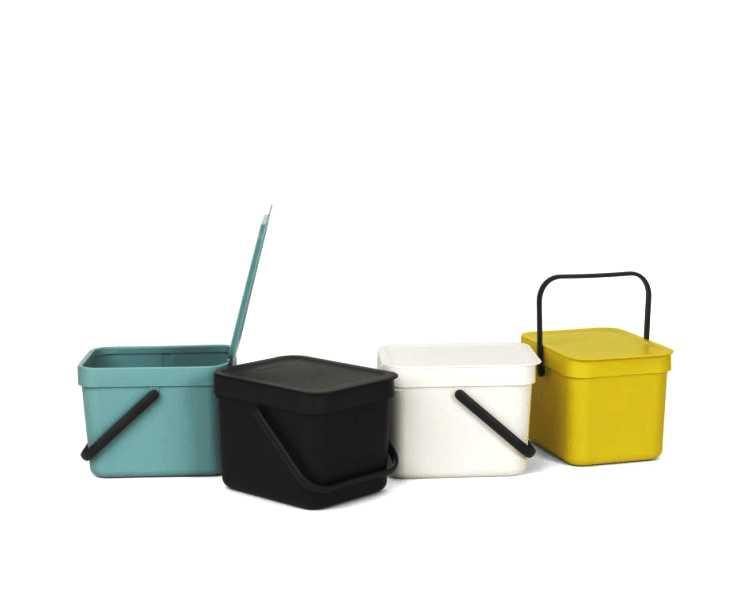 Ведро для мусора Sort&Go Brabantia, объем 6 л, желтый Brabantia 109683 фото 8
