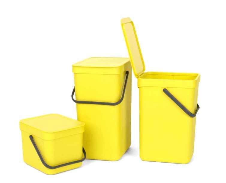 Ведро для мусора Sort&Go Brabantia, объем 6 л, желтый Brabantia 109683 фото 5