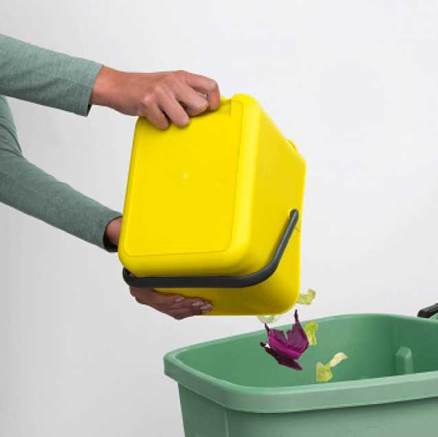 Ведро для мусора Sort&Go Brabantia, объем 6 л, желтый Brabantia 109683 фото 4