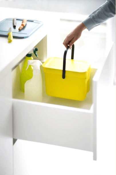 Ведро для мусора Sort&Go Brabantia, объем 6 л, желтый Brabantia 109683 фото 6
