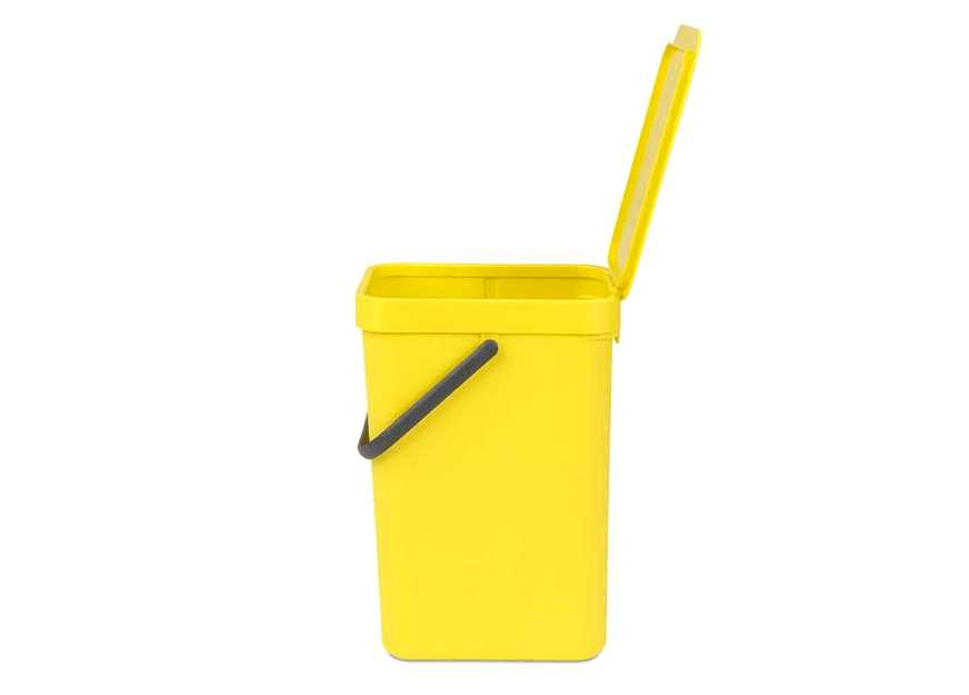 Ведро мусорное Sort&Go Brabantia, объем 12 л, желтый Brabantia 109768 фото 8
