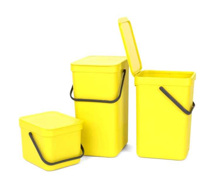 Ведро мусорное Sort&Go Brabantia, объем 12 л, желтый Brabantia 109768 фото 3