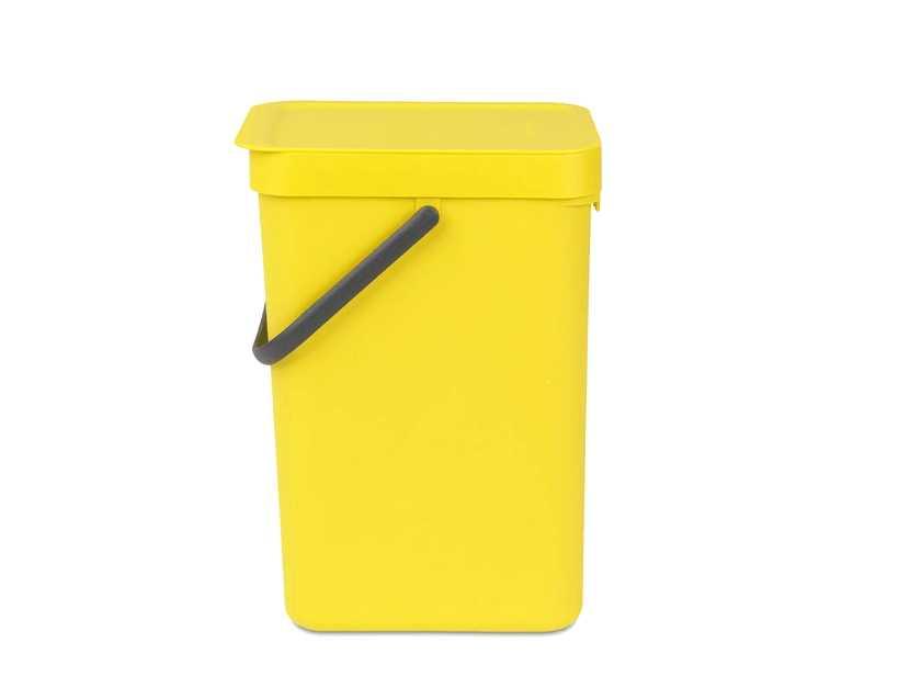 Онлайн каталог PROMENU: Ведро мусорное Sort&Go Brabantia, объем 12 л, желтый Brabantia 109768
