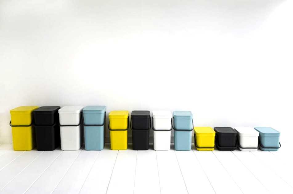 Ведро мусорное Sort&Go Brabantia, объем 12 л, желтый Brabantia 109768 фото 5