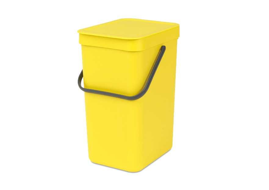 Ведро мусорное Sort&Go Brabantia, объем 12 л, желтый Brabantia 109768 фото 1