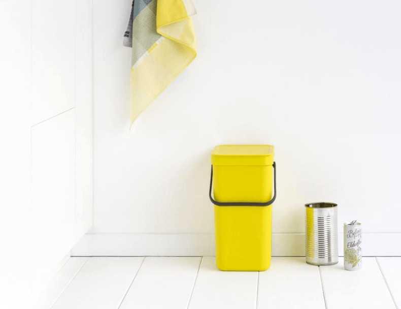 Ведро мусорное Sort&Go Brabantia, объем 12 л, желтый Brabantia 109768 фото 4