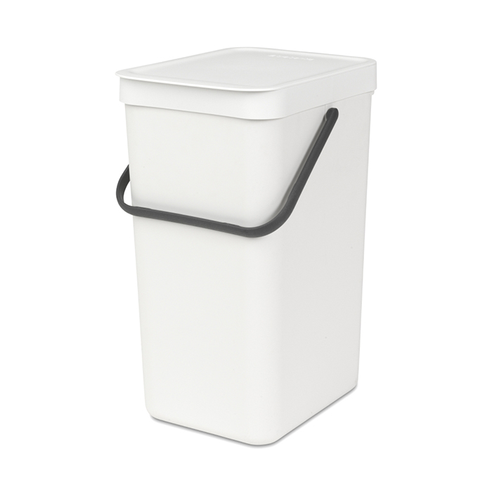 Онлайн каталог PROMENU: Ведро мусорное Sort&Go Brabantia, объем 16 л, белый Brabantia 109942