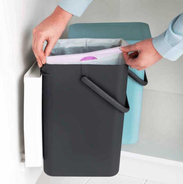 Ведро мусорное Sort&Go Brabantia, объем 16 л, серый Brabantia 109966 фото 4